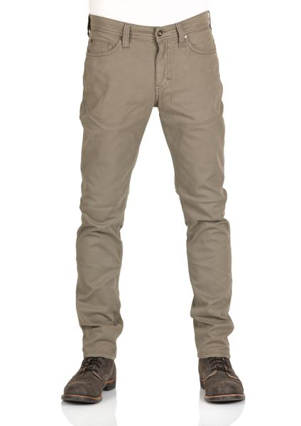 Mustang Herren Jeans Vegas - Slim Fit - Dusky Green - Safari - Flint Grey