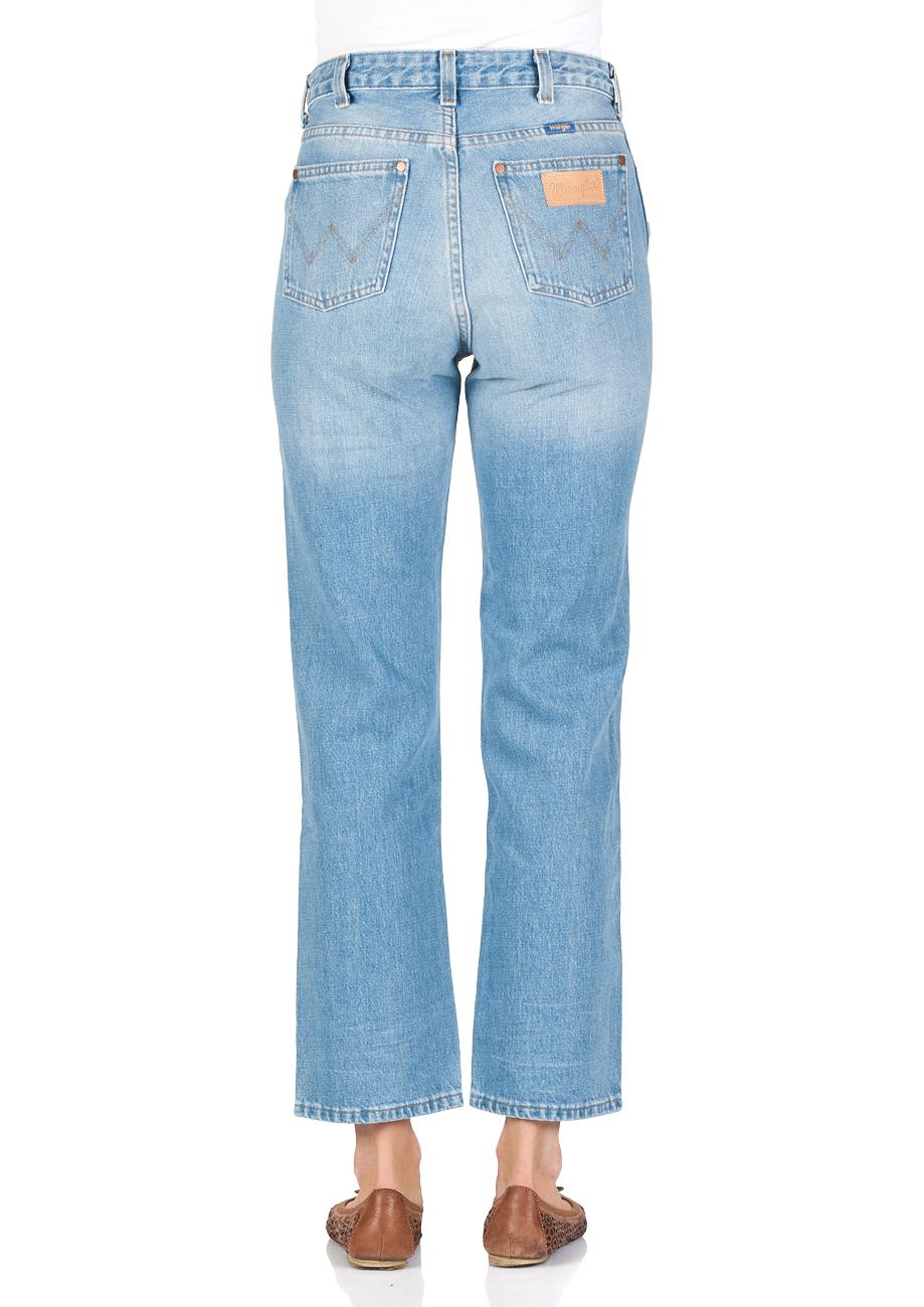 Wrangler Damen Jeans Retro Straight - Straight Fit - Blau -  B&Y Hot Shot