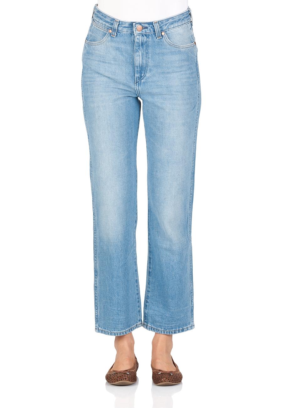 b95c5e1e Wrangler Damen Jeans Retro Straight - Straight Fit - Blau - B&Y Hot Shot