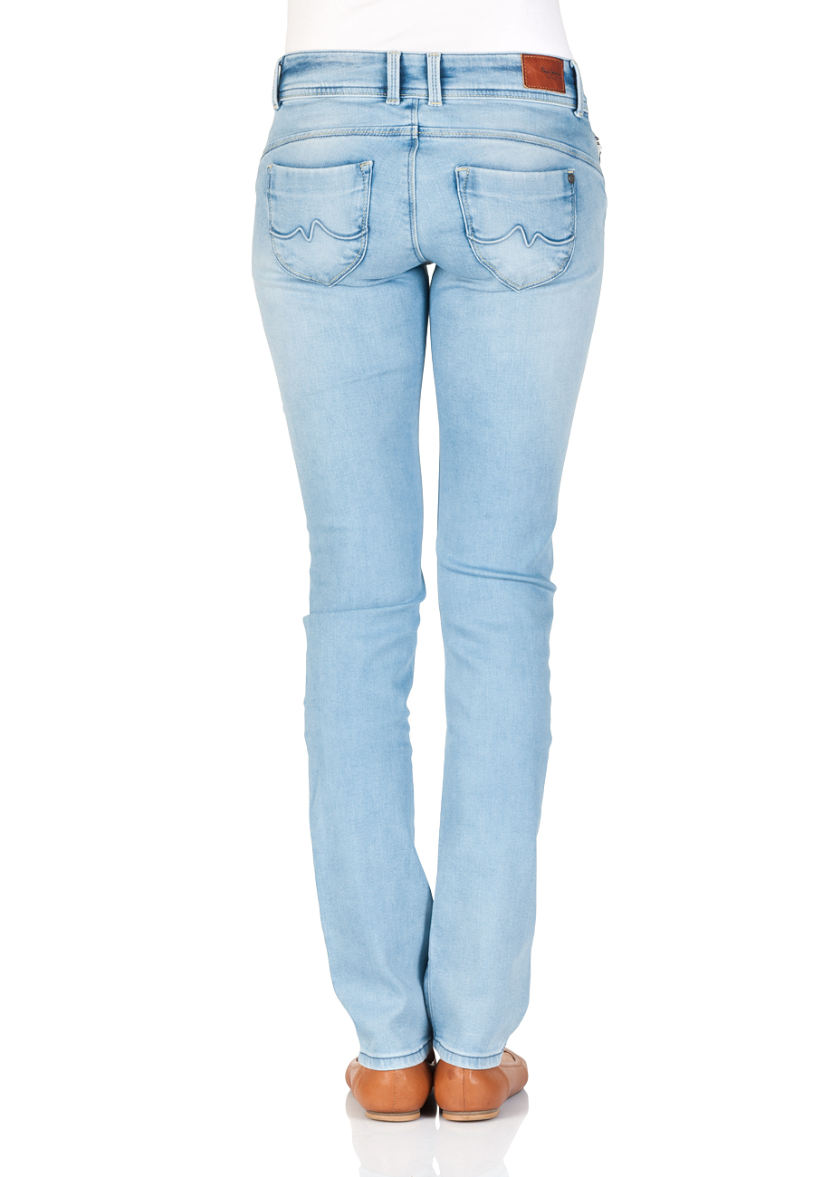 online here a few days away outlet for sale Pepe Jeans Damen Jeans New Brooke - Slim Fit - Blau - Light Blue
