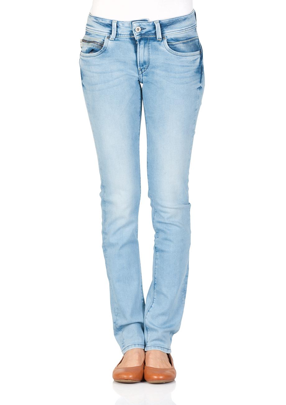 f44c12ec4cc1 Pepe Jeans Damen Jeans New Brooke - Slim Fit - Blau - Light Blue ...