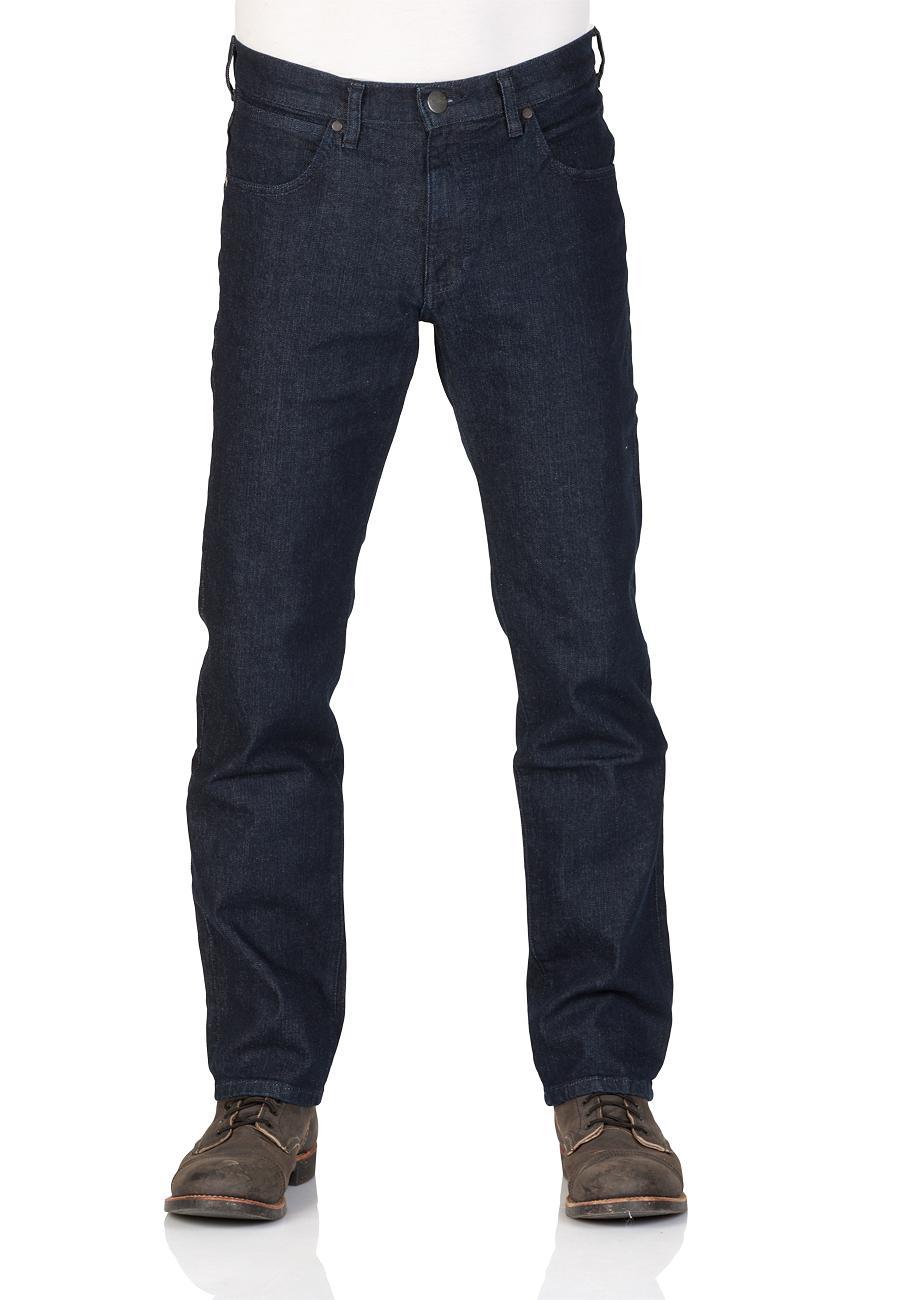 Wrangler Herren Jeans Arizona Regular Fit - Blue Burn - Cross Blue - Broke Blue