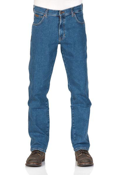 33f2d0f46970 Wrangler Herren Jeans Texas Stretch - Regular Fit - Blau - Jet Blue - Mid  Rocks