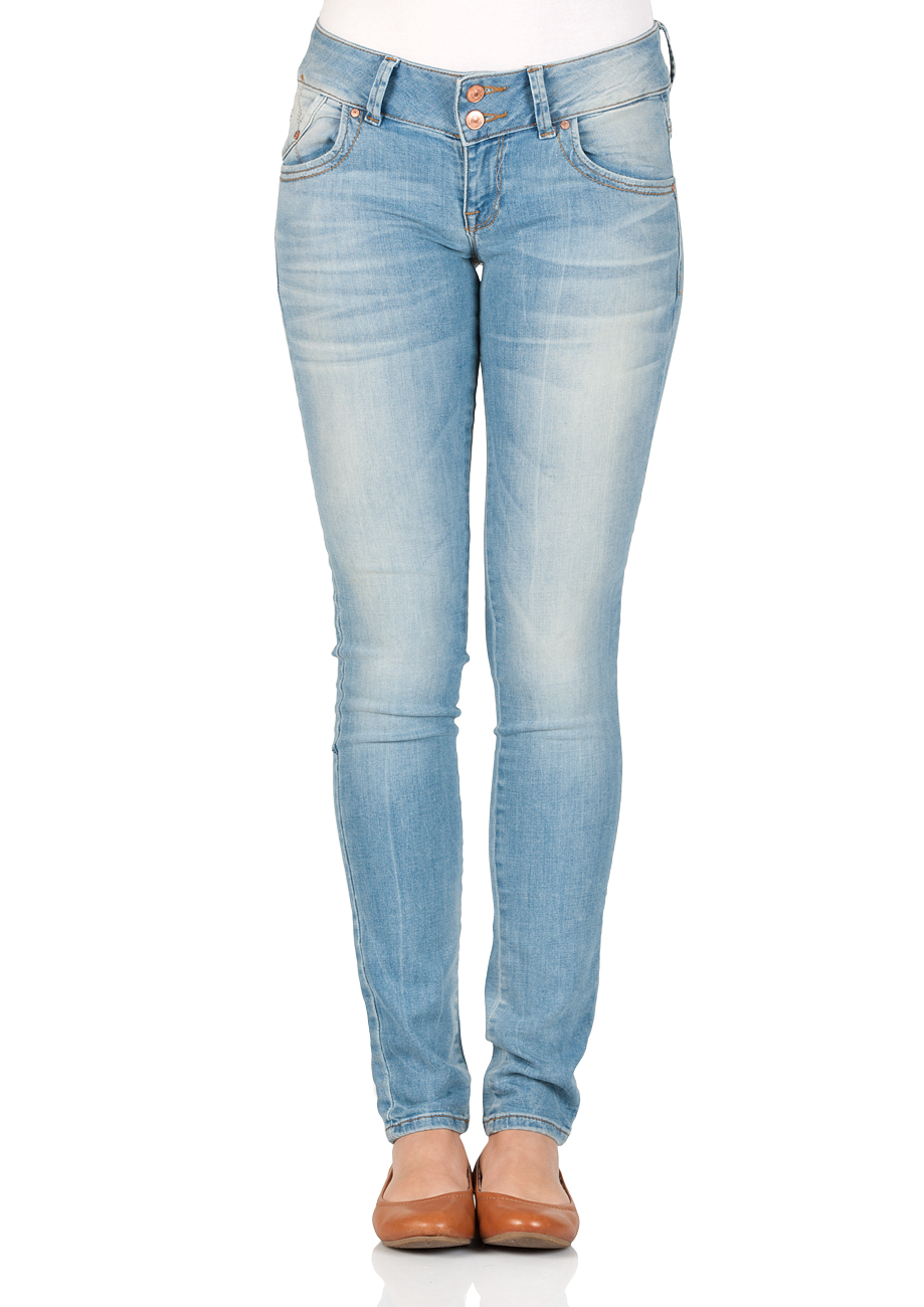 LTB Damen Jeans Molly Slim Fit Blau Helen Wash