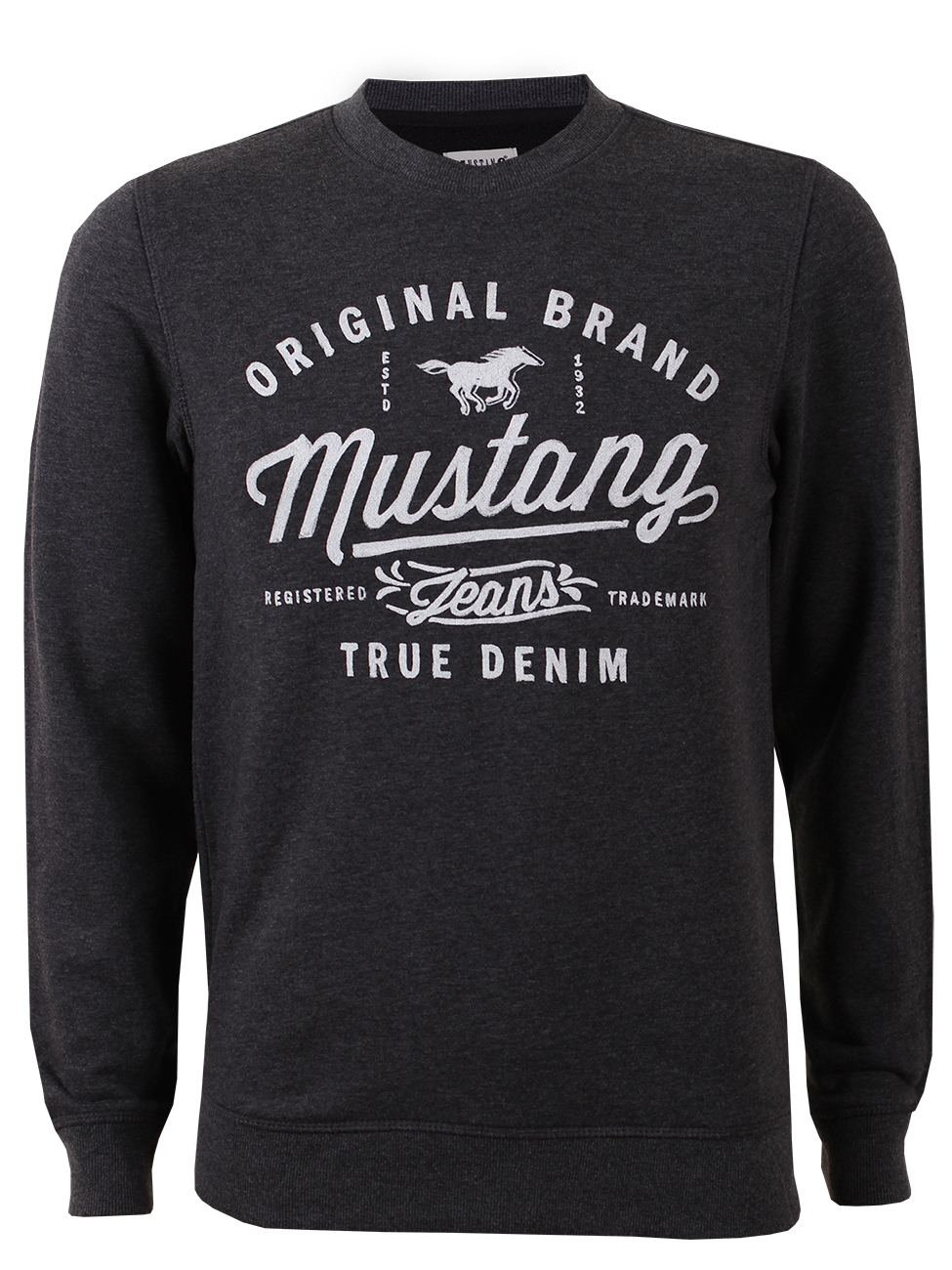 Mustang Herren Sweater Logo Sweat