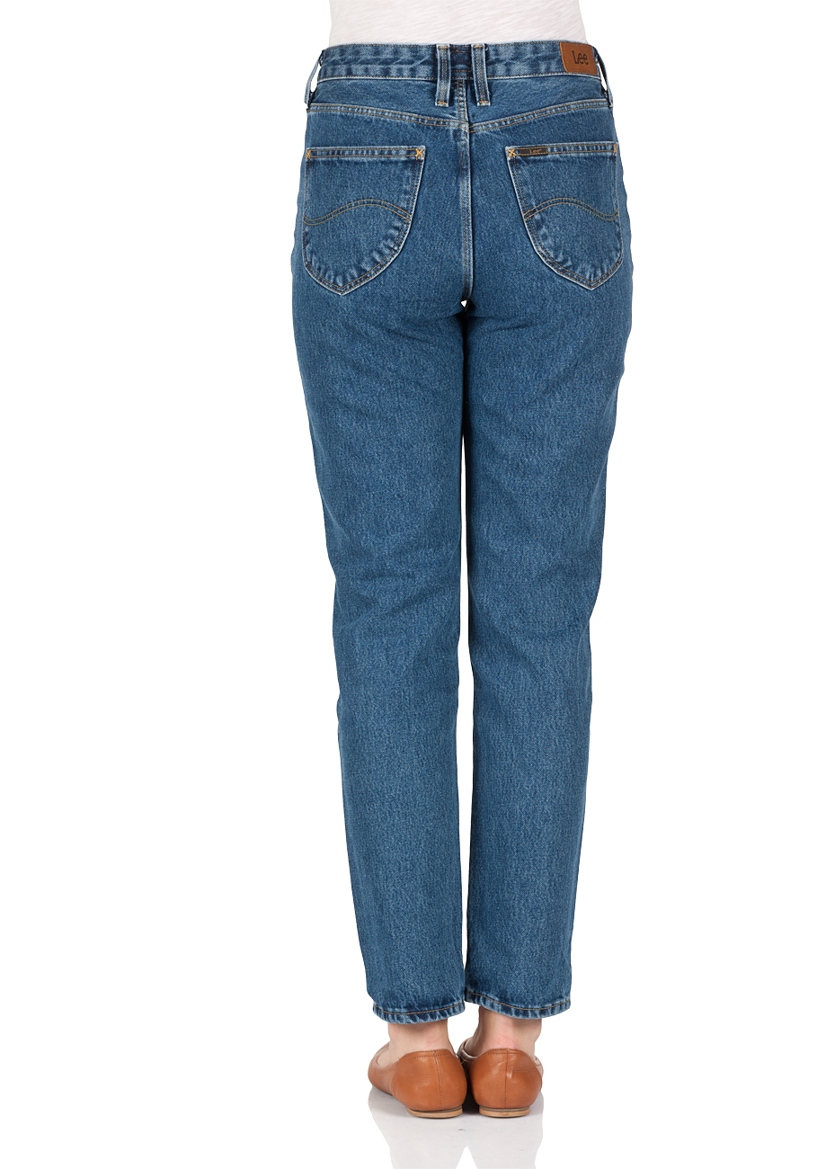 lee-damen-jeans-mom-straigt-fit-blau-stonewash, 29.95 EUR @ jeans