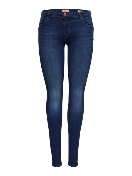 Only Damen Jeans onlALLAN REGSK PUSHUP JNS BB SO1145 - Skinny Fit - Blau - Dark Blue