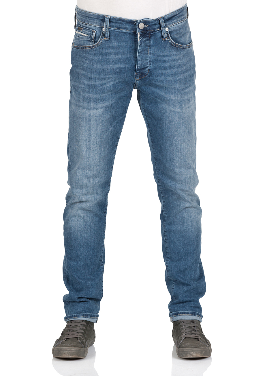 Mavi Herren Jeans Yves - Skinny Fit - Blau - Mid Brushed Ultra Move
