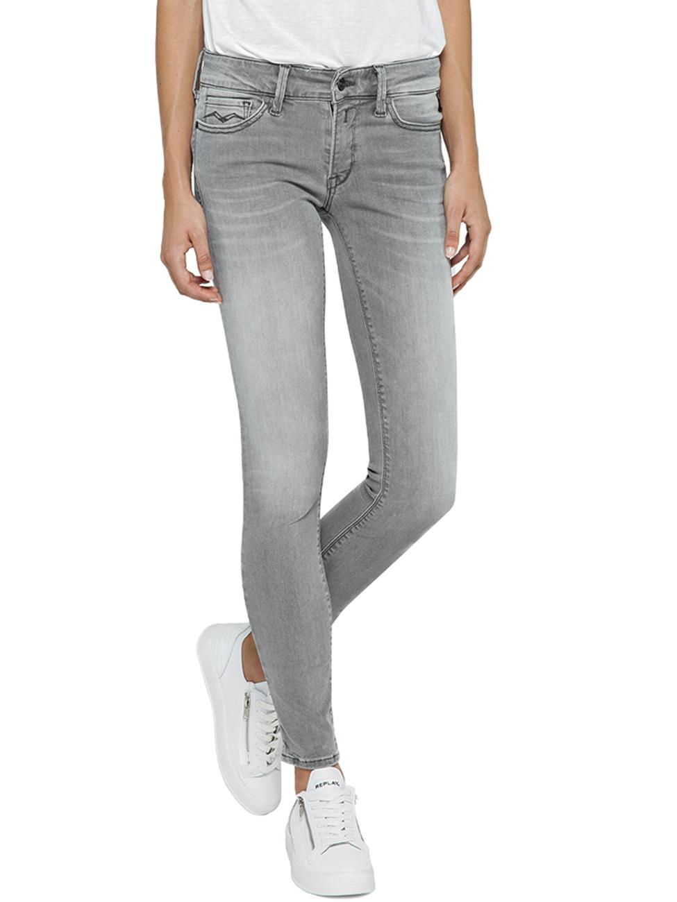 53cd46962540d0 Replay Damen Jeans Luz - Skinny Fit - Grau - Grey kaufen - JEANS ...