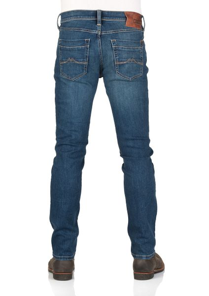 Dark Denim Blue Mustang Men/'s Jeans Washington Slim Fit Blue
