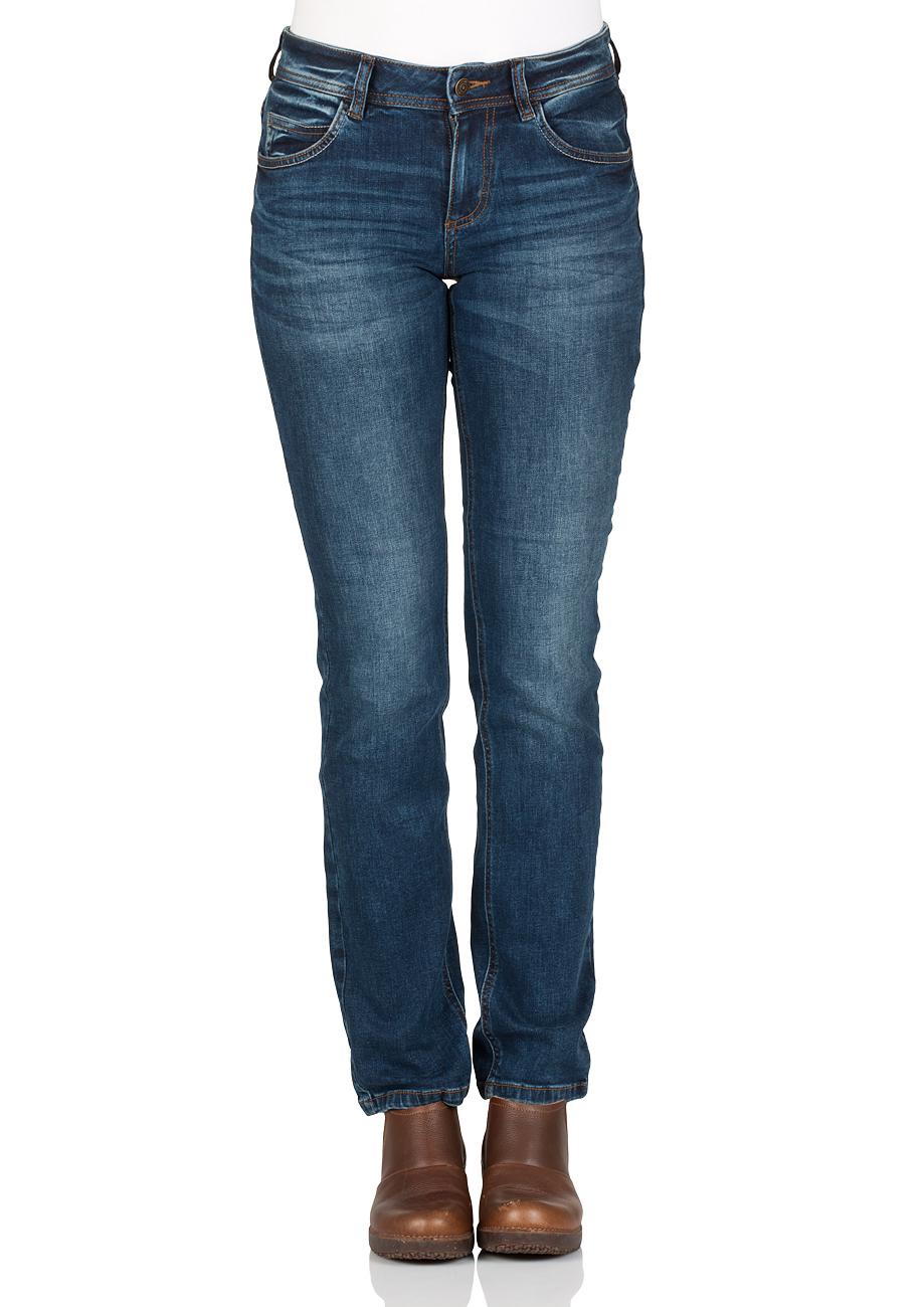 334667b8483 Tom Tailor Damen Jeans Alexa Straight - Straight Fit - Blau - Mid Stone Wash