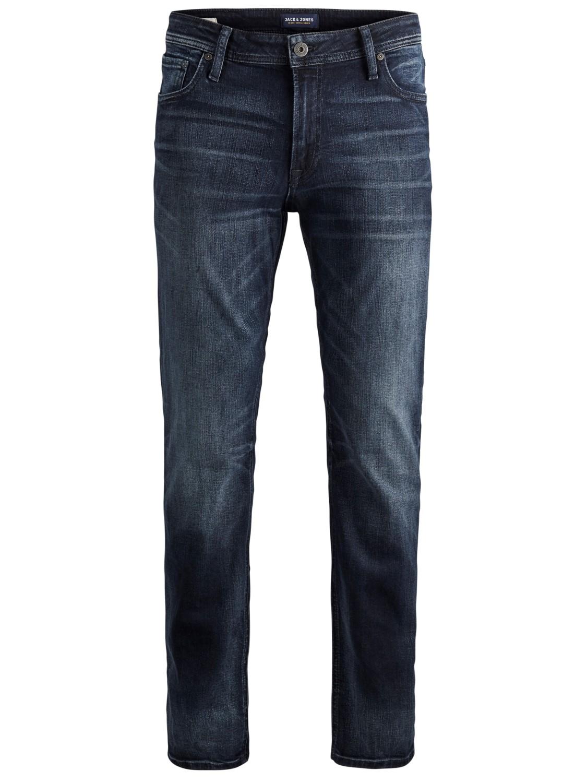 Jack & Jones Herren Jeans JJICLARK JJORIGINAL ZIP JOS 319 Regular Fit - Blau - Blue Denim