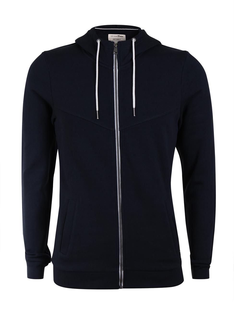 Tom Tailor Denim Herren Kapuzensweater Hoodyjacket in Übergröße