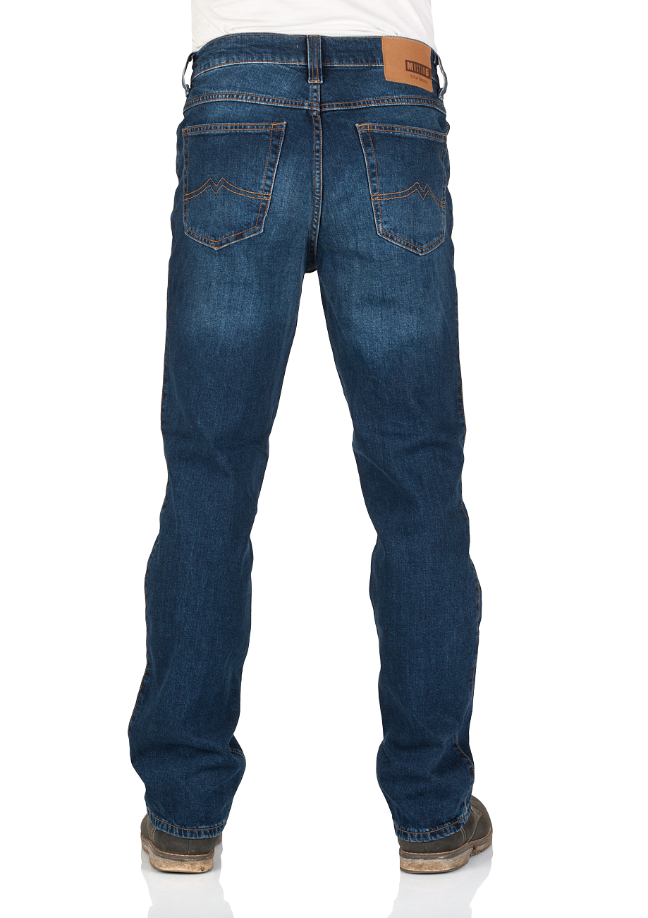Mustang Herren Jeans Oklahoma - Straight Fit - Blau - Blue Denim