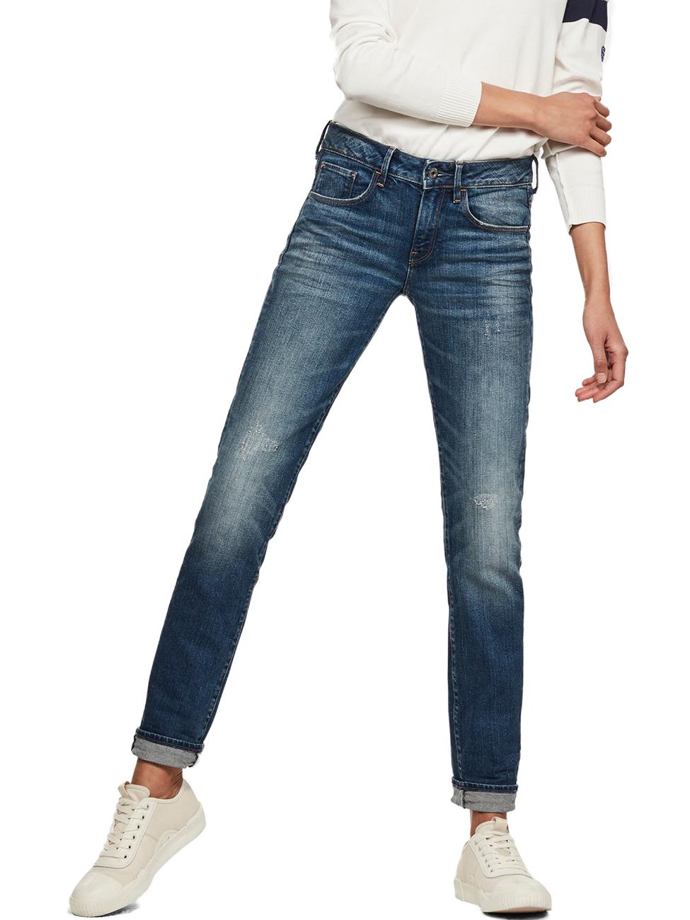 627170821c16 G-Star Damen Jeans 3301 Deconstructed Mid Waist Straight Fit - Blau -  Medium Aged