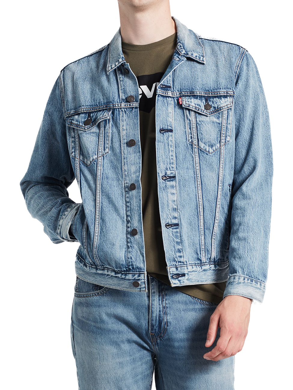 hot sale online 9c9ac 5693b Levis® Herren Jeansjacke The Trucker Jacket - Regular Fit - Blau -  Killebrew Trucker