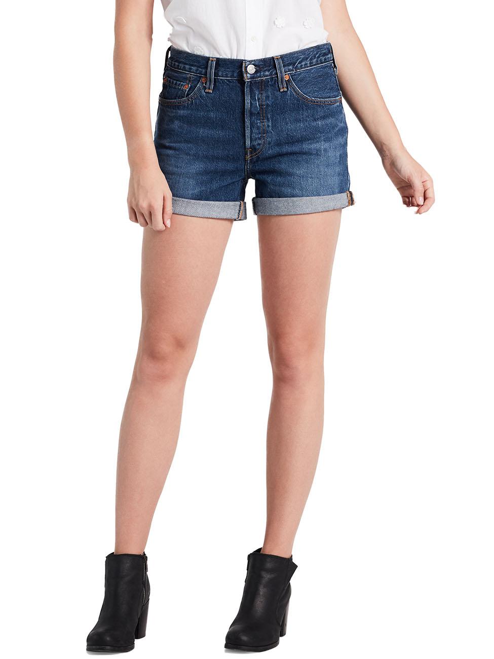 levis-damen-jeans-short-501-short-long-blau-blue-clue