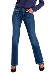 e4ecdb686a2c18 Cross Jeans Damen Jeans Lauren - Bootcut - Blau - Dark Blue Used