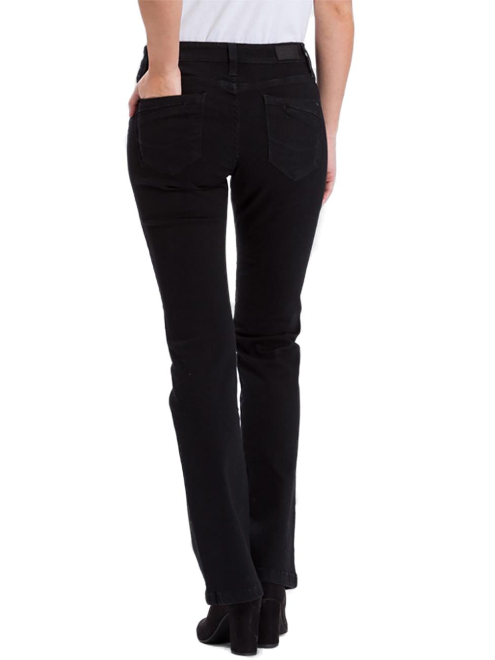 cross-jeans-damen-jeans-lauren-bootcut-schwarz-black-black, 55.45 EUR @ jeans