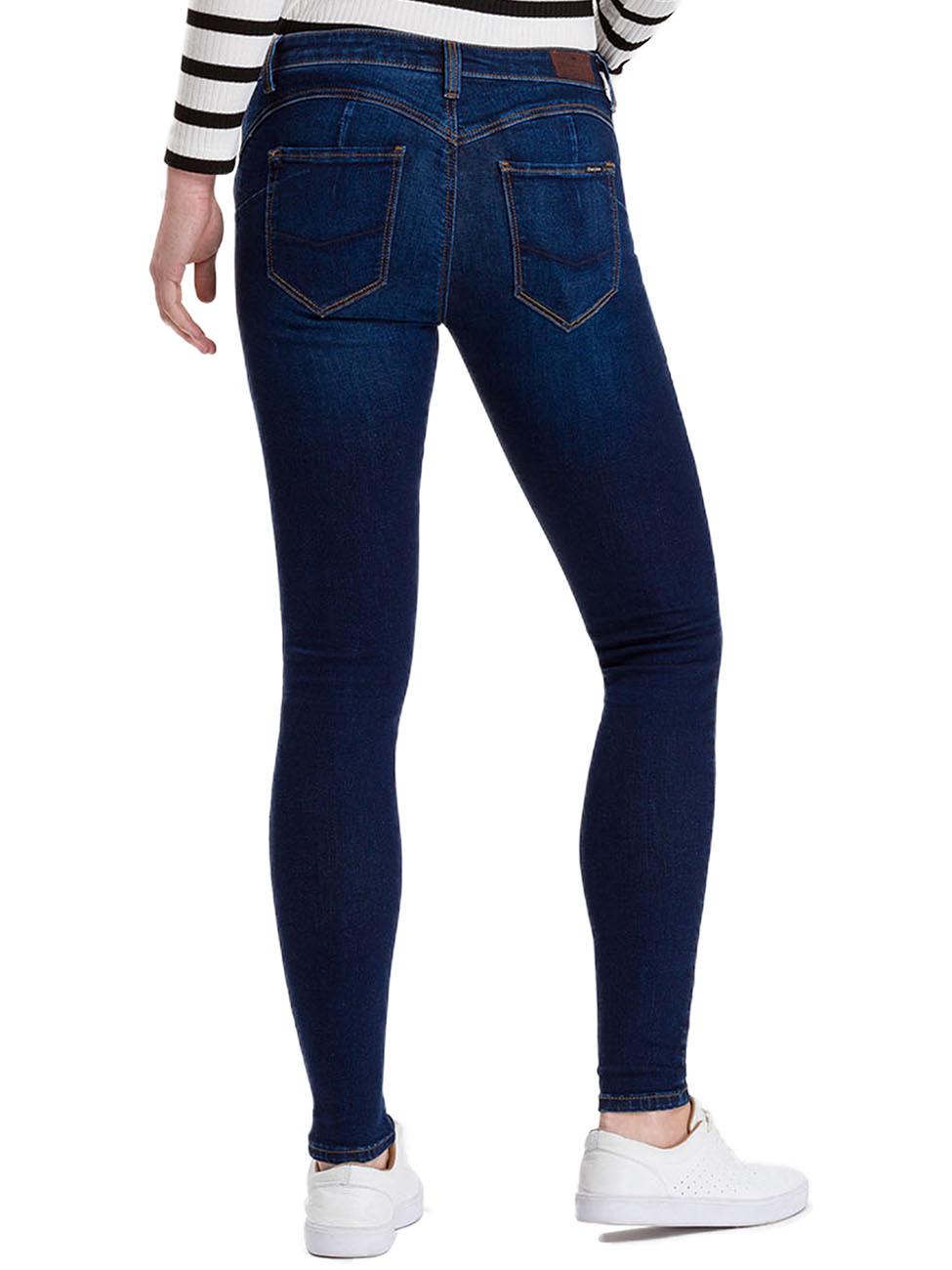 Shop für authentische erstklassiges echtes genießen Sie besten Preis Cross Jeans Damen Push Up Jeans Page - Super Skinny Fit - Blau - Dark Blue