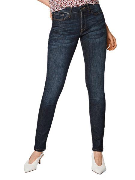 Mavi Damen Jeans Nicole Super Skinny Fit Blau Rinse Brushed Dream Comfort