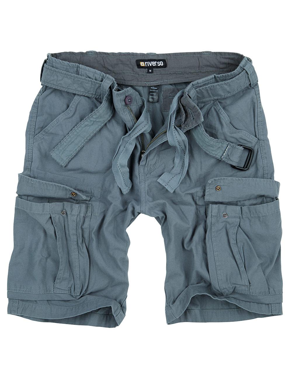 7XL riverso Herren Cargo Shorts RIVFynn Kurze Hose Gürtel 100/% Baumwolle Uni S
