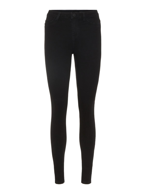 Noisy May Damen Jeans NMCALLIE HW SKINNY JEANS VI023BL Skinny Fit Schwarz Black