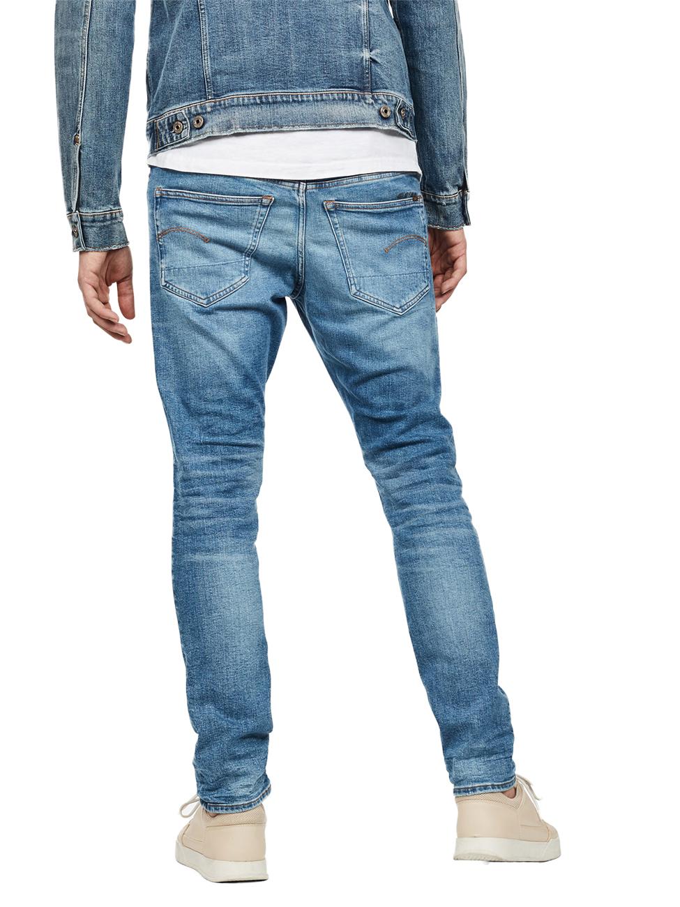 g-star-herren-jeans-3301-slim-fit-blau-authentic-faded-blue, 99.95 EUR @ jeans