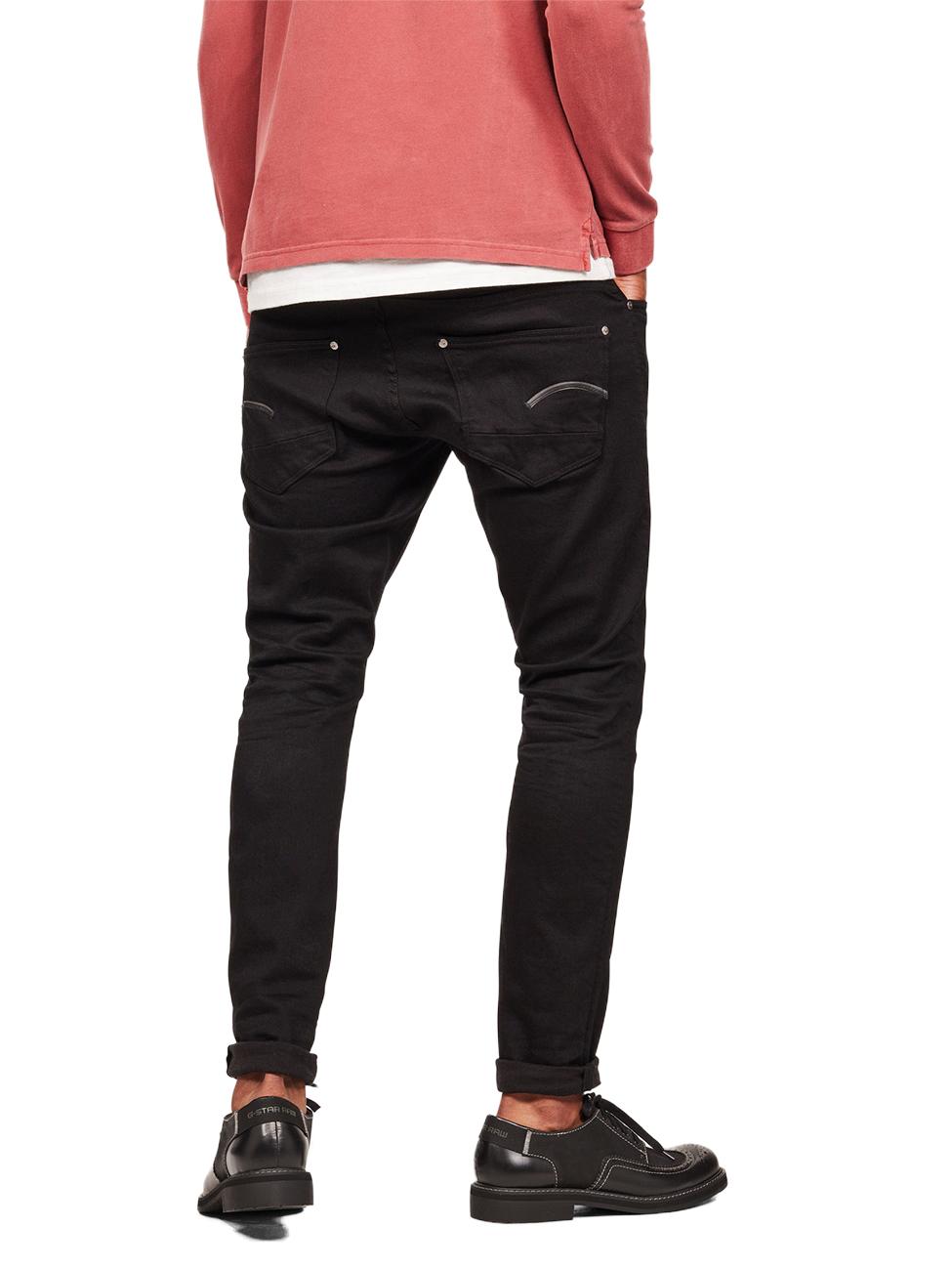 G Star Herren Jeans Revend Skinny Fit Schwarz Pitch Black