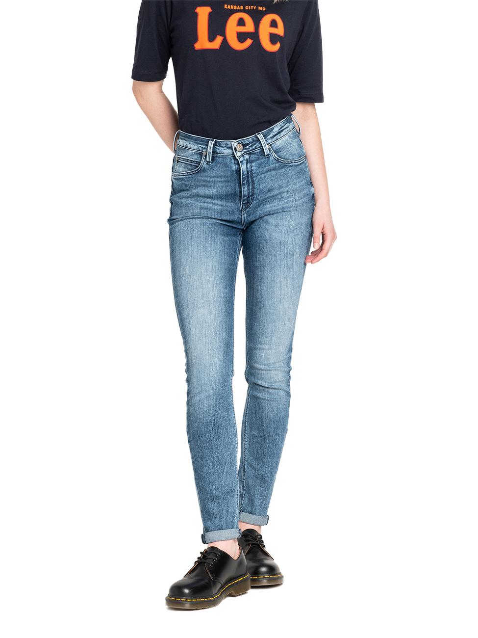 Lee Damen Jeans Jeanshose Stretch Scarlett High Skinny Fit  - Blau - Cool Daze