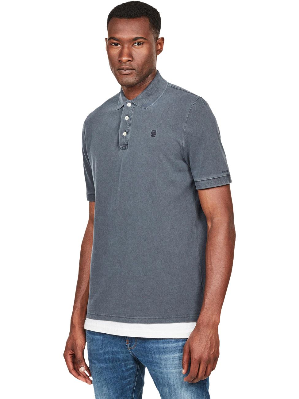 G-Star Herren Kurzarm Poloshirt Halite - Straight Fit