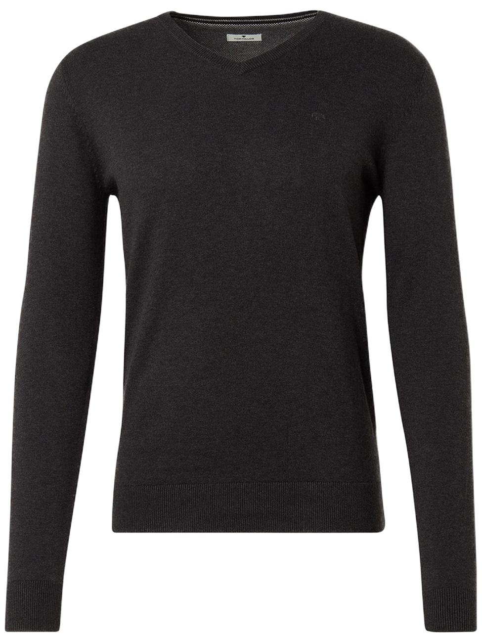 tom-tailor-herren-v-neck-strickpullover-melange-basic-regular-fit