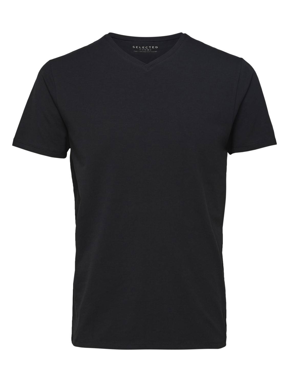 selected-homme-herren-v-neck-kurzarm-t-shirt-slhnewpima-regular-fit