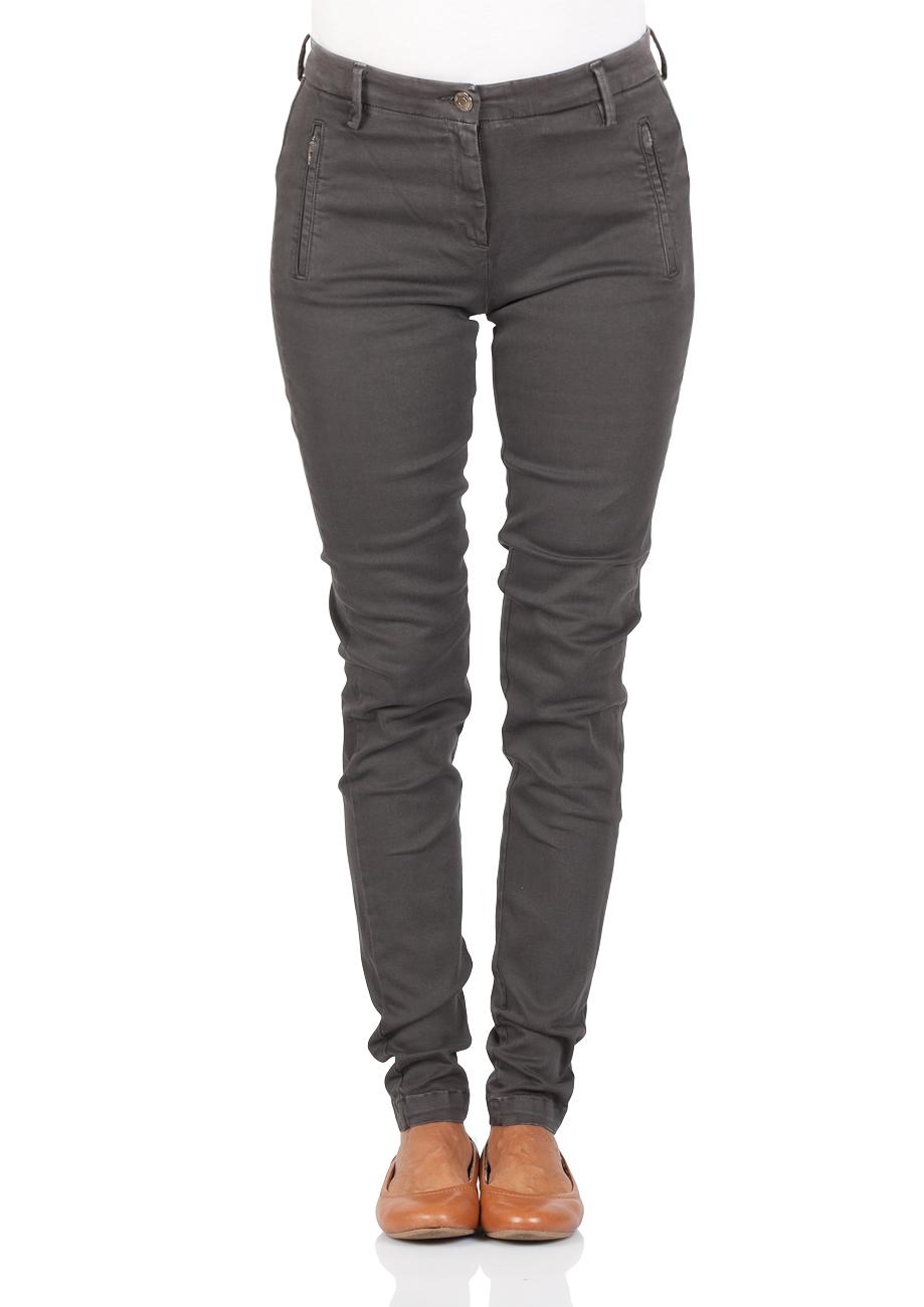 Genieße den niedrigsten Preis tolle Preise neue Version Replay Damen Jeans Chino Karyna - Hyperflex Stretch - Slim Fit - Grau -  Blackboard