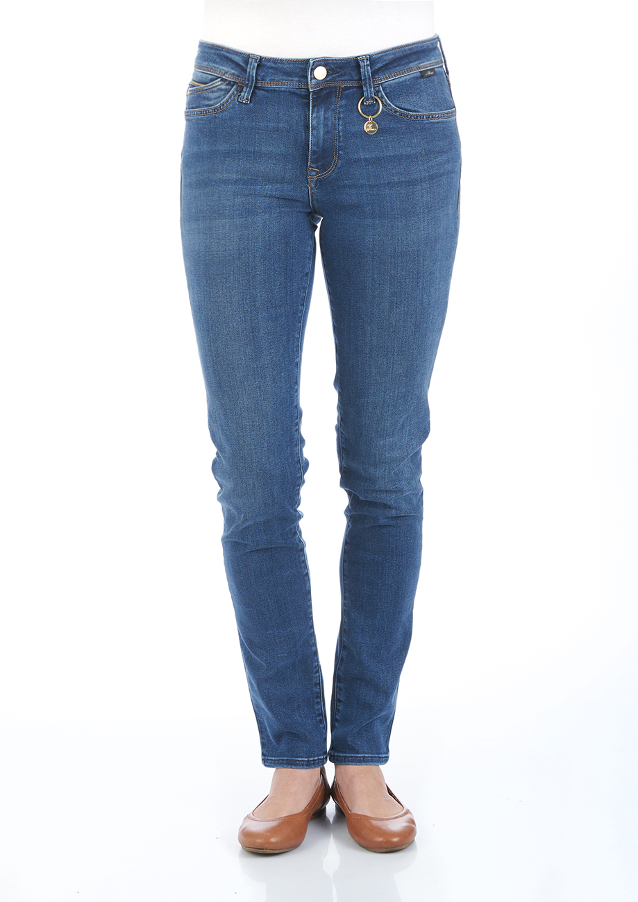 Mavi Damen Jeans Nicole - Super Skinny Fit - Blau - Dark Chic Move