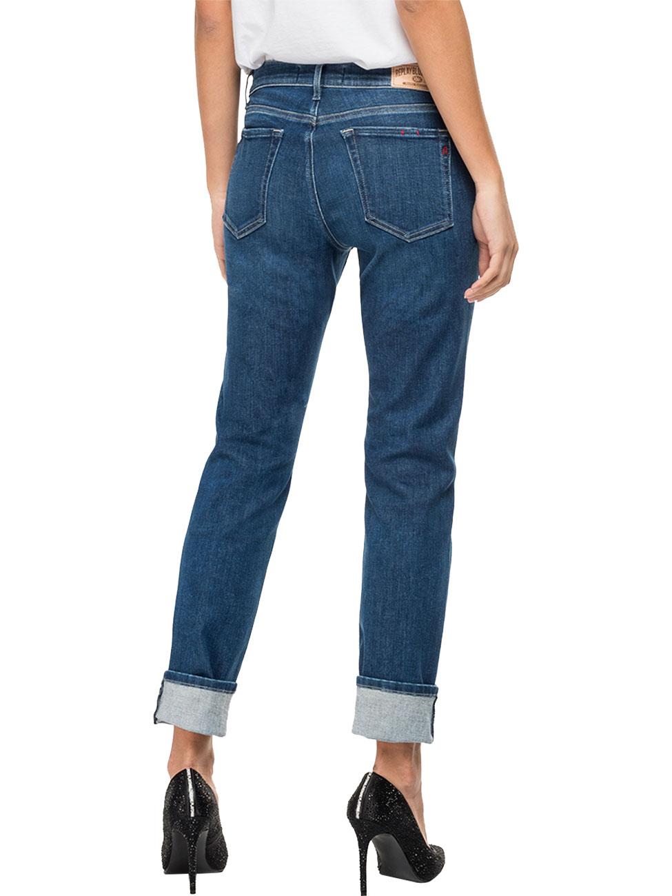replay-damen-jeans-vivy-slim-fit-blau-dark-blue-denim, 122.55 EUR @ jeans
