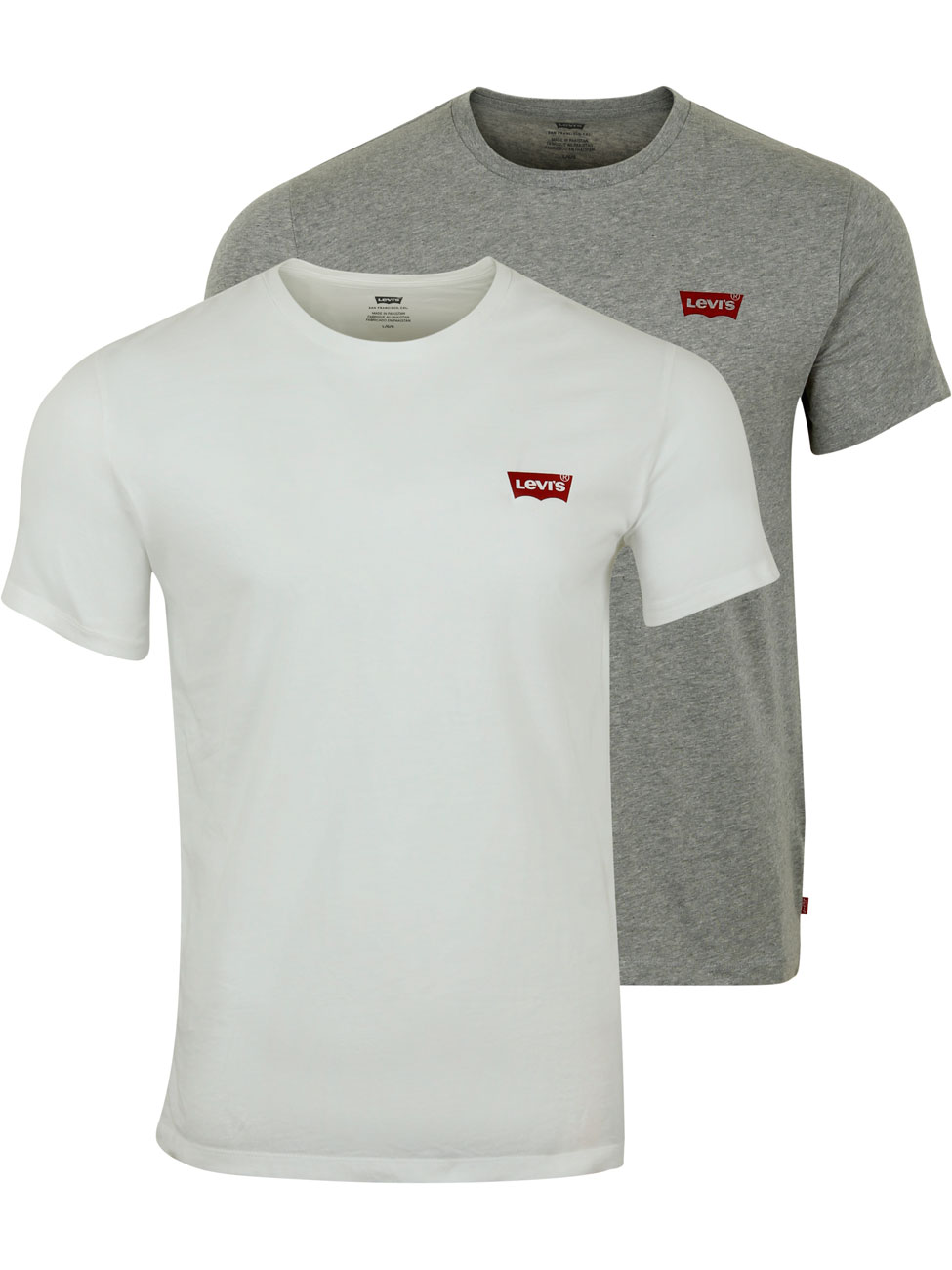 Levis Herren Rundhals T Shirt Crewneck Graphic Tee   20er Pack