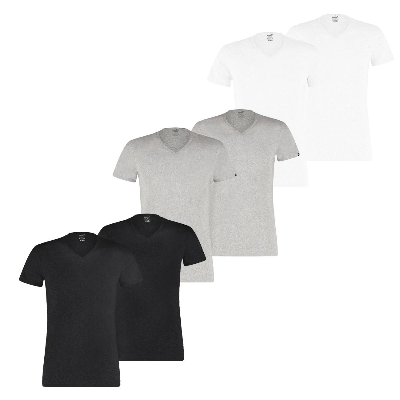 Puma Herren T Shirt BASIC CREW Regular Fit 100% Baumwolle