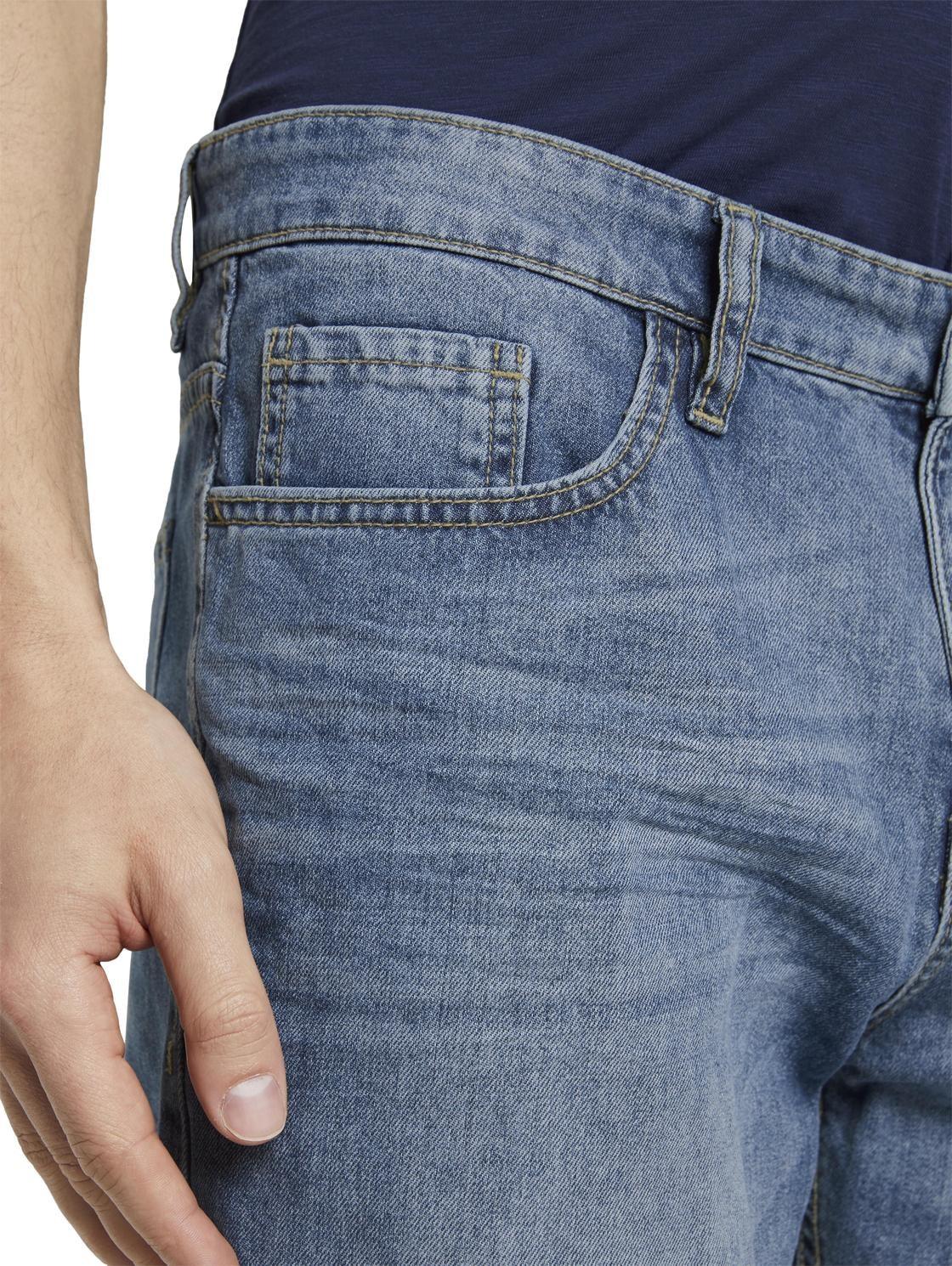 Tom Tailor Herren Jeans Short Josh Regular Slim Fit Blau