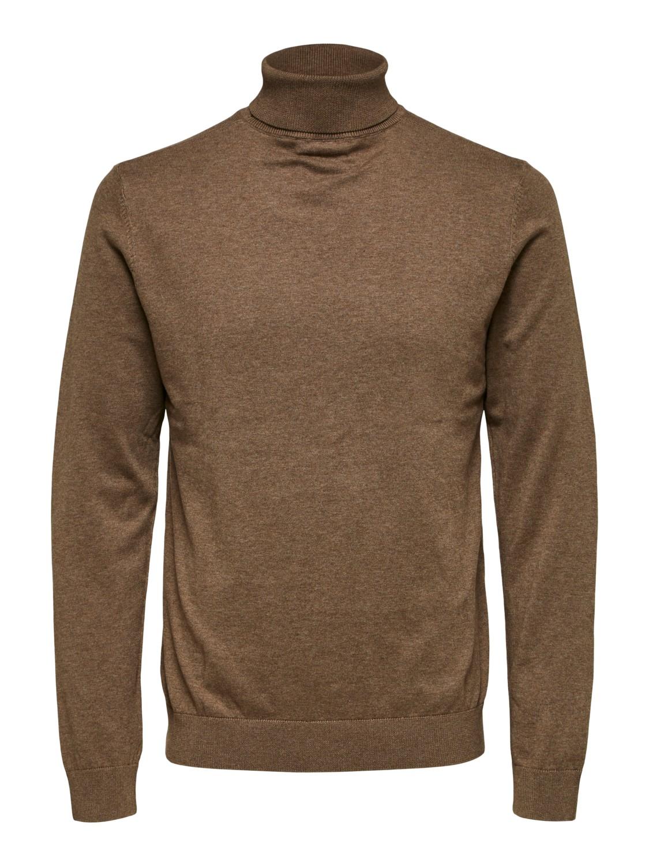 Urban Classics Herren Strick-Pullover Cardigan Roll Neck Rollkragen-Pullover