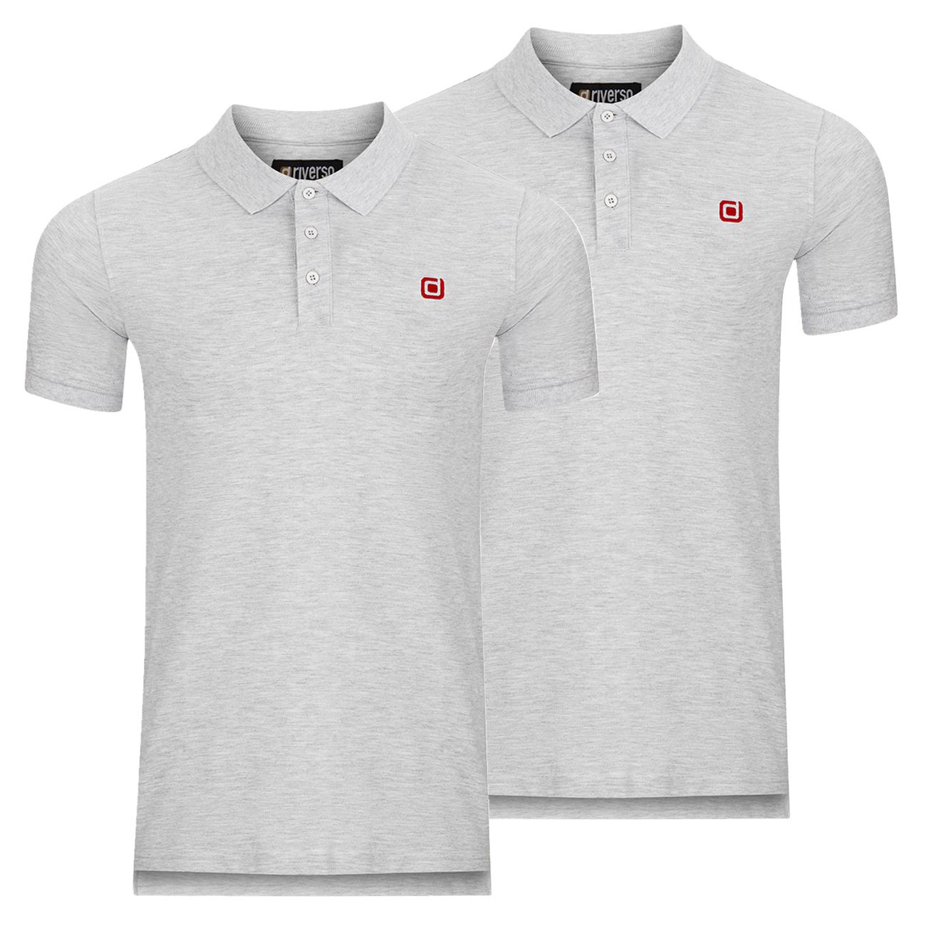 miniatura 8 - riverso Herren Poloshirt RIVJohn Basic 2er Pack Shirt Regular Polo Kragen Uni