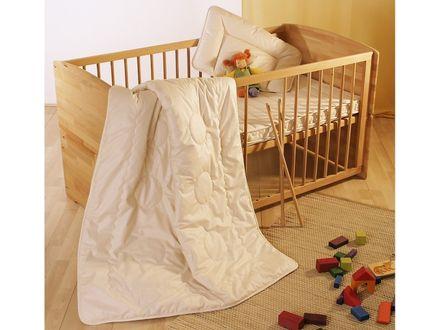 Garanta Kinder-Ganzjahresdecke Merinowolle Bio Cotton KBA/KBT Duo-Leichtsteppbett  – Bild 1