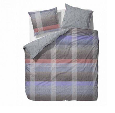 Esprit Mako Satin Bettwäsche Jacky multicolor grau/lila – Bild 1