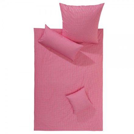 Lorena Textil Mako Batist Bettwäsche Basel kleinkariert rot Vichy – Bild 1