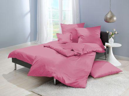 Lorena Mako Satin Bettwäsche uni rosa/pink Farbe 641