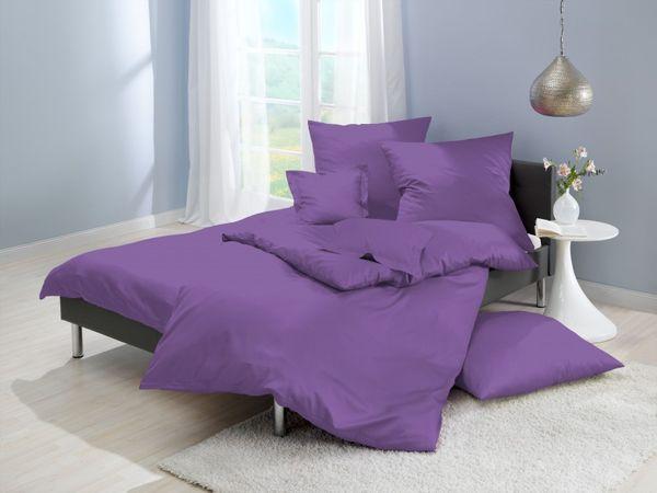 lorena mako satin bettw sche uni lila violett f 74 bettw sche einfarbige bettw sche uni. Black Bedroom Furniture Sets. Home Design Ideas