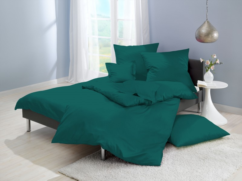 Attractive Lorena Mako Satin Bettwäsche Uni Ocean/blau Farbe 253 Amazing Ideas