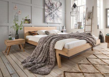M&H Massiv-Holz Bettgestell Sarafina Eiche  – Bild 1