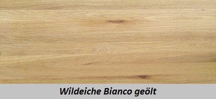 M&H Massiv-Holz Bettgestell Sarafina Eiche mit Polsterkopfteil – Bild 3