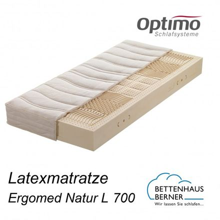 Optimo Natur Latexmatratze Ergomed Natur L 700 Optimo Schlafsysteme
